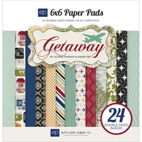 "Echo Park 6x6"" Double Sided Paper Pad Getaway 24pg"