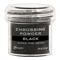 Ranger Embossing Powder Super Fine Black