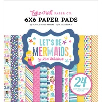 "Echo Park 6x6"" Double Sided Paper Pad Let's Be Mermaids 24pg"