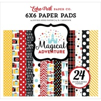 "Echo Park 6x6"" Double Sided Paper Pad Magical Adventure 24pg"