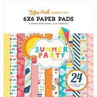"Echo Park 6x6"" Double Sided Paper Pad Summer Party 24pg"