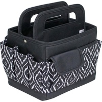 Everything Mary Desktop Caddy Organiser Black & White Peacock Print with Black Trim