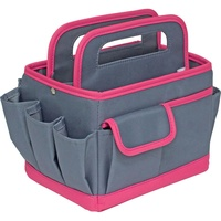 Everything Mary Desktop Caddy Organiser Gray Solid with Pink Trim