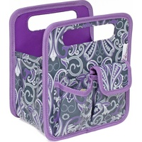 Everything Mary Desktop Tote Grey / Purple