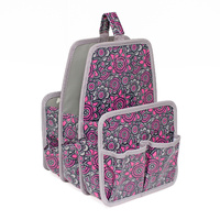 Everything Mary Large Deluxe Caddy Grey / Pink