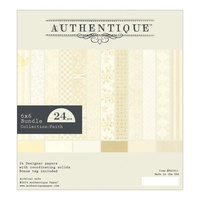 "Authentique 6x6"" Double Sided Cardstock Pad Faith 24pg"