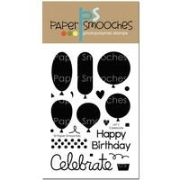 "Paper Smooches Stamp 4x6"" Let's Celebrate"