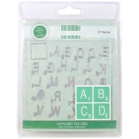 First Edition Craft A Card Die Alphabet Tiles