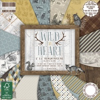 "First Edition 6x6"" Premium Paper Pad Wild at Heart 64pg"