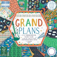 "First Edition 6x6"" Premium Paper Pad Grand Plans 64pg"