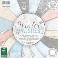 "First Edition 6x6"" Premium Paper Pad Winter Wishes"