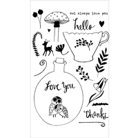 Flora & Fauna Clear Stamp Owl Always Love You