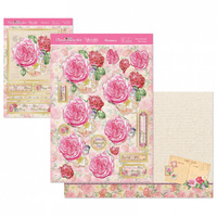 Hunkydory Floral Favourites Designer Deco Large Set Peony Postcard
