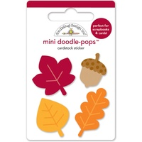 Doodlebug DoodlePops 3D Stickers Fall Friends Little Leaves Mini