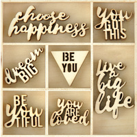 Kaisercraft Mini Wooden Flourishes Be You 35pc
