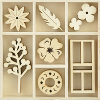 Kaisercraft Mini Wooden Flourish Pack Collected