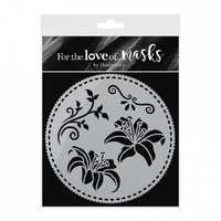 Hunkydory For The Love of Masks Lovely Lillies Stencil