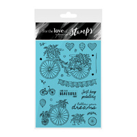 Hunkydory Stamp A6 For the Love of Beautiful Ride