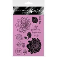Hunkydory Stamp A6 For the Love of Delightful Dahlias