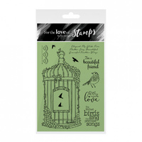 Hunkydory Stamp A6 For the Love of Blossoming Birdcage
