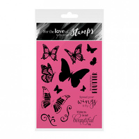 Hunkydory Stamp A6 For the Love of Spread Your Wings
