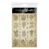 Hunkydory For The Love of Stamps Birth Flowers Super Size Stamp Set