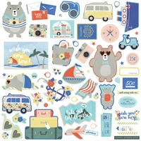 "PhotoPlay Paper Let's Go 12x12"" Element Stickers"