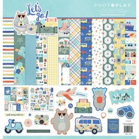"PhotoPlay Paper Let's Go 12x12"" Collection Kit with Sticker Sheet"