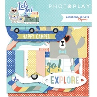 PhotoPlay Paper Let's Go Diecut Ephemera 29pc
