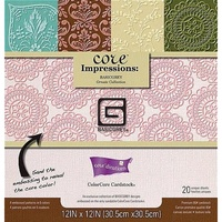 "Co'redinations Core Impression 12x12"" Ornate Cardstock Pad by Basic Grey 20pk"