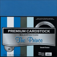 "Core'dinations Cardstock Value Pack 12x12"" Smooth The Prince 20pk"