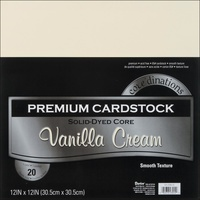 "Core'dinations Cardstock Value Pack 12x12"" Smooth Vanilla Cream 20pk"