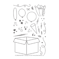 Honey Bee Stamps Clear Stamp Celebration Box