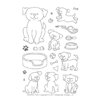 Honey Bee Stamps Clear Stamp Playful Pups