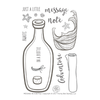 Honey Bee Stamps Clear Stamp Message in a Bottle
