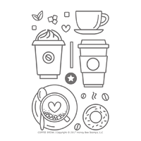 Honey Bee Stamps Clear Stamp Coffee Break