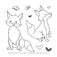 Honey Bee Stamps Clear Stamp Feeling Foxy