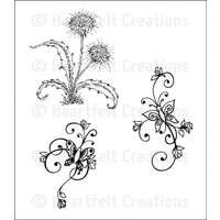 Heartfelt Creations Stamp Set Botanical Swirls