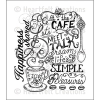 Heartfelt Creations Stamp Set Coffee Talk Background