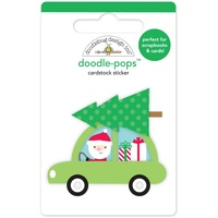 Doodlebug Doodle-Pops 3D Stickers Here Comes Santa Claus Special Delivery