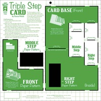 Hot Off The Press Template Triple Step Card