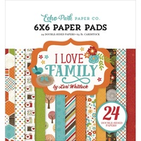 "Echo Park 6x6"" Double Sided Paper Pad 6x6"" I Love Family"