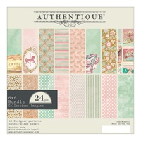 "Authentique 6x6"" Double Sided Cardstock Pad 24pg Imagine"