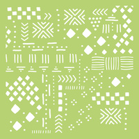 "Kaisercraft 6x6"" Designer Template Tribal Collage"