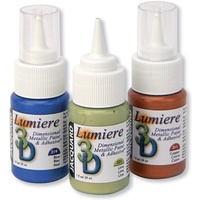 Jacquard Lumiere 3D Metallic Paint & Adhesive Bundle 23pk