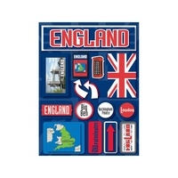 Reminisce Jet Setters Dimensional Stickers England