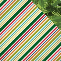 "Echo Park 12x12"" Double Sided Cardstock Jungle Safari Jungle Stripe"