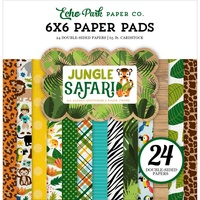 "Echo Park 6x6"" Double Sided Paper Pad Jungle Safari 24pg"
