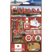 Reminisce Jet Setters Dimensional Stickers Canada
