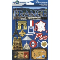 Reminisce Jet Setters Dimensional Stickers France